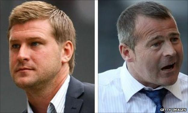 Karl Robinson and Ian McParland