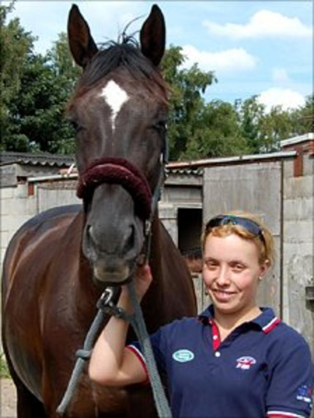 GB Paralympic hopeful Sophie Wells with her horse