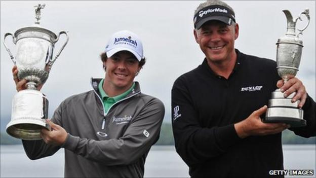 Rory McIlroy and Darren Clarke