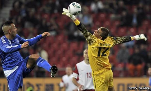 Gregorz Sandomierski has been capped three times by Poland