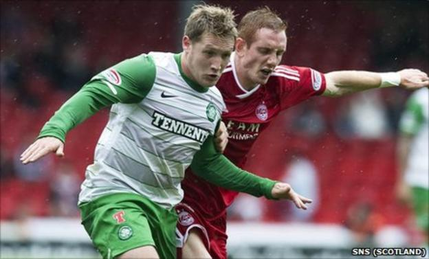 Kris Commons is action for Celtic at Pittodrie