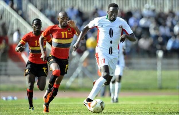 Kenya's Macdonald Mariga in action for his country in 2011