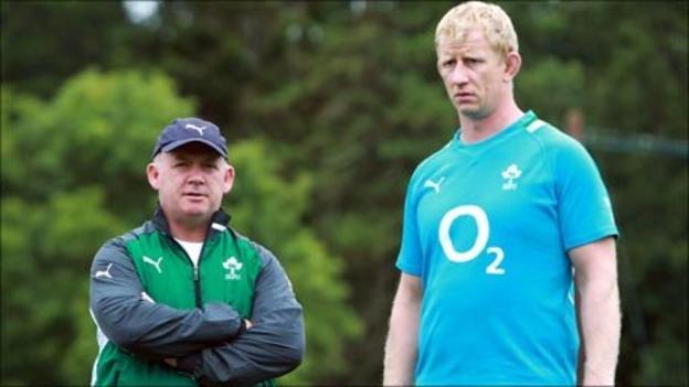 Declan Kidney and Leo Cullen