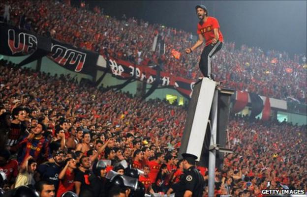 Al Ahly fans pictured in 2011