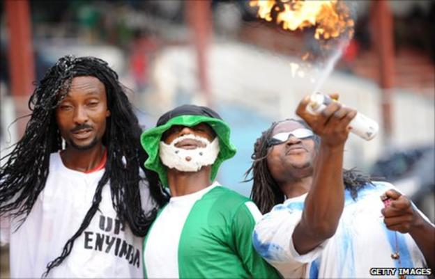 Enyimba fans in February 2011