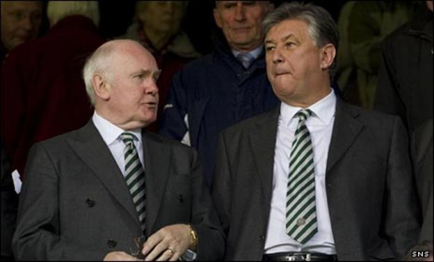 Lord Reid and Peter Lawwell