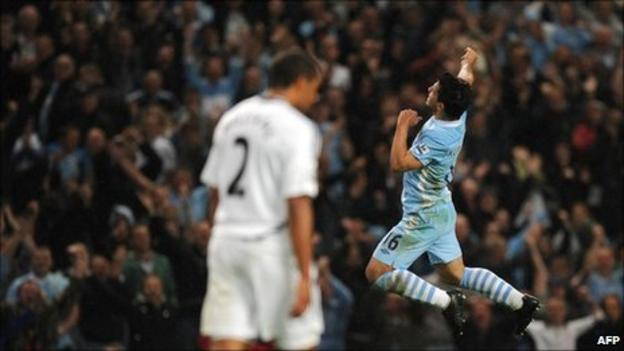 Star of the show celebrates his dream debut in front of the Manchester City faithful