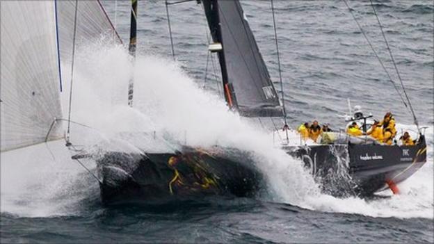 Abu Dhabi Ocean Racing's Azzam set a new Fastnet Race record