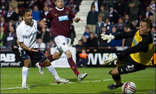 Aaron Lennon scores for Spurs