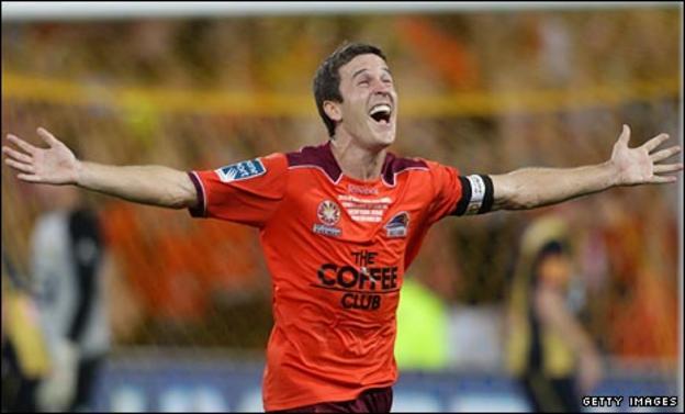 Matt McKay celebrates