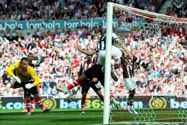 Newcastle United scoring the first goal