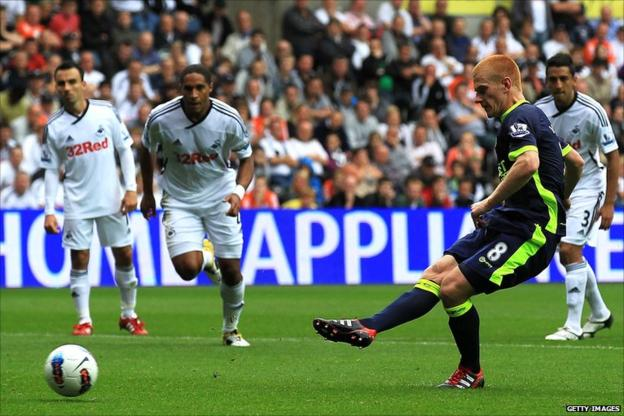Ben Watson missing his penalty kick
