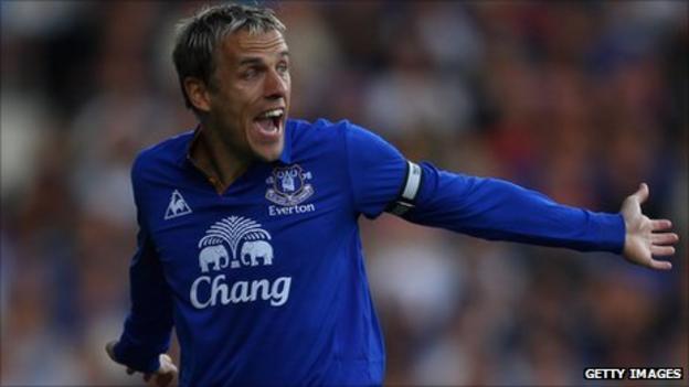 Everton's Phil Nevile