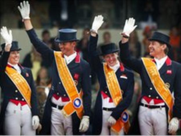 GB's victorious dressage team