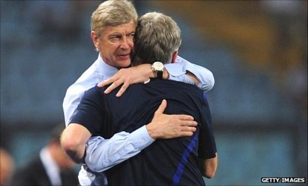 Arsene Wenger and Pat Rice
