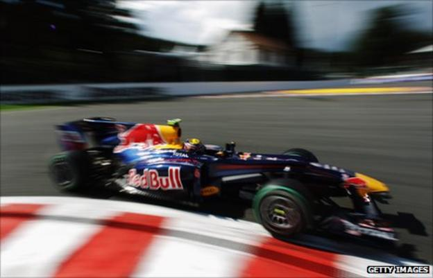 Webber drives through Eau Rouge during qualifying for last year's race
