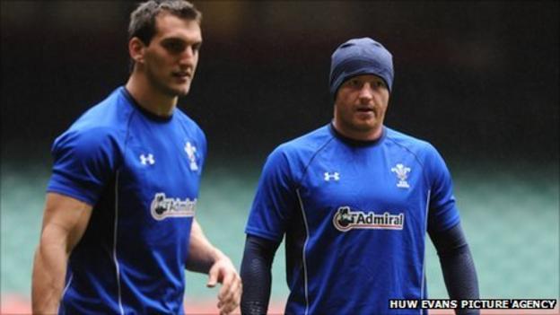 Sam Warburton (left) and Martyn Williams