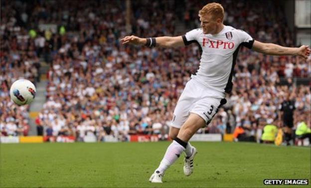 Fulham defender John Arne Riise