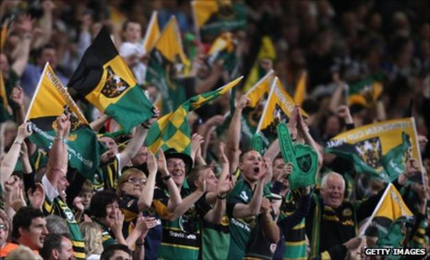 Northampton Saints supporters