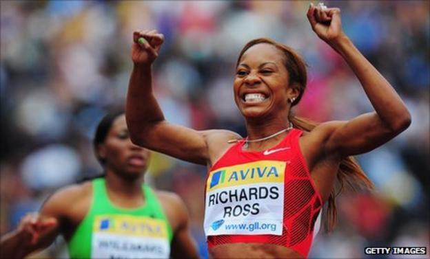 American 400m runner Sanya Richards-Ross