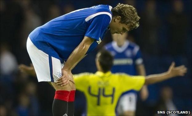 Rangers were dumped out of Europe by Slovenian side Maribor