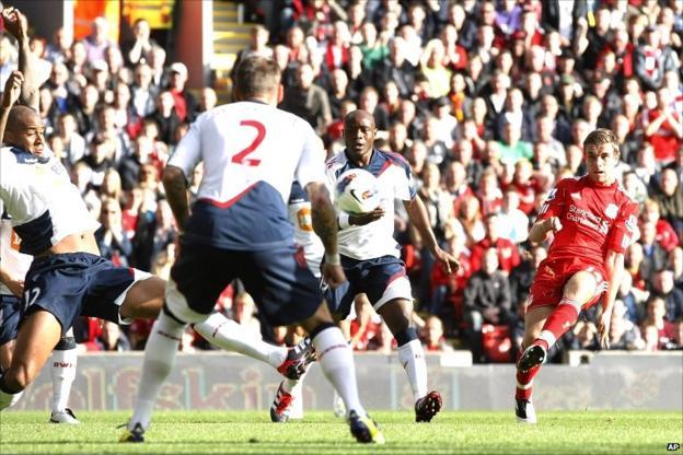 Jordan Henderson opens his Liverpool account