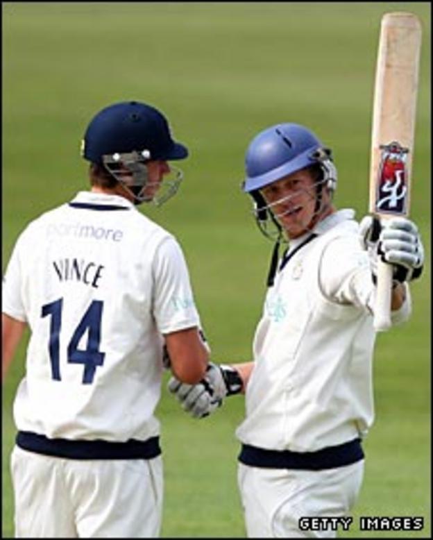James Vince and James Adams
