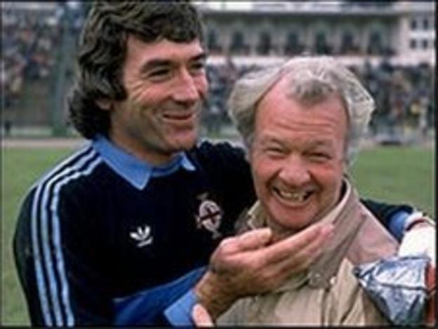 Pat Jennings and Billy Bingham
