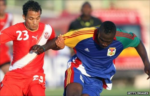 Tunisia clash with Central African Republic in May 2011