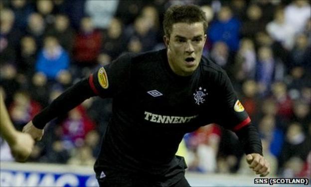 Andrew Little in action for Rangers