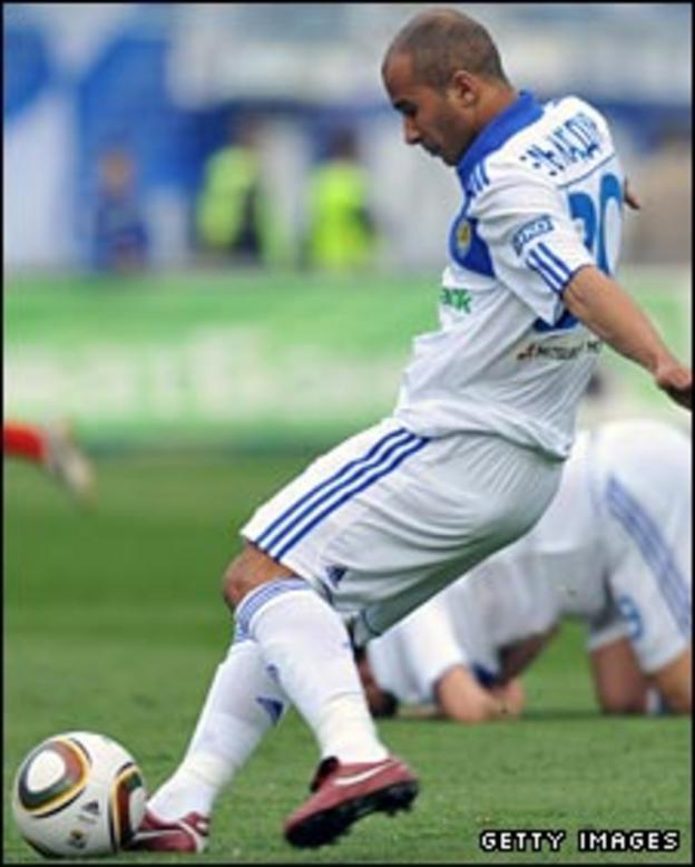 Dynamo Kiev's Badr El Kaddouri