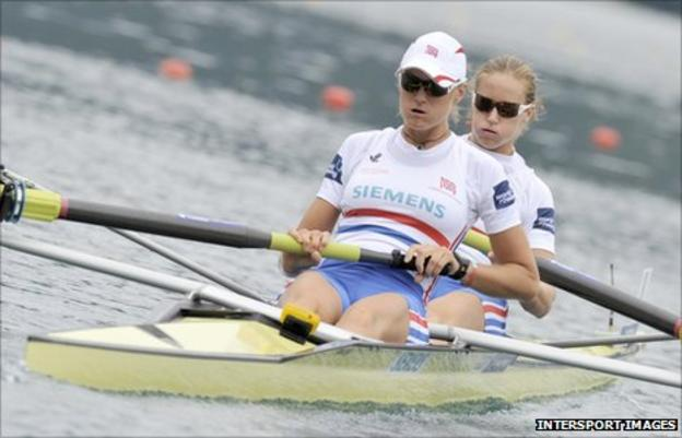 Helen Glover (right) and Heather Stanning