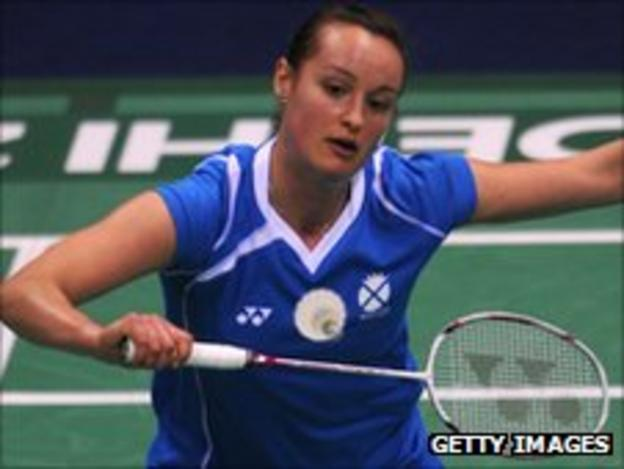 Badminton player Susan Egelstaff