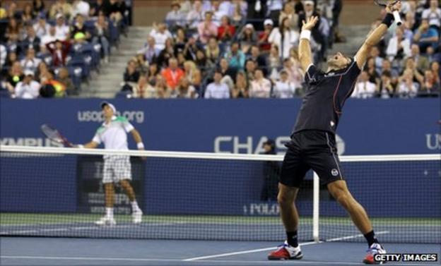 Carlos Berlocq and Novak Djokovic