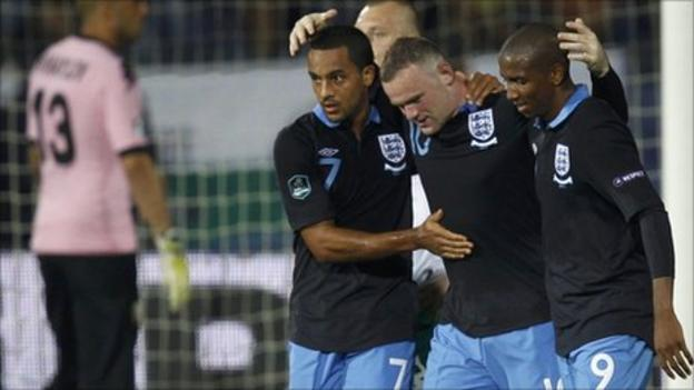 Walcott, Rooney and Young