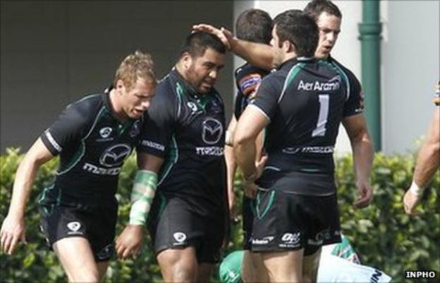 Rodney Ah You scored Connacht's try in Italy