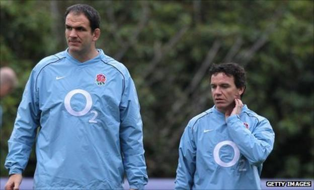 Martin Johnson (left) and Mike Ford (right)