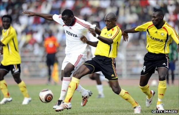 Action from Kenya v Uganda in October 2010