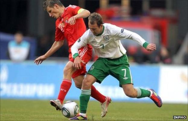 Aiden McGeady and Andrey Arshavin