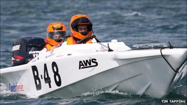 Powerboat world champions John Richardson and Tom Sauvarin