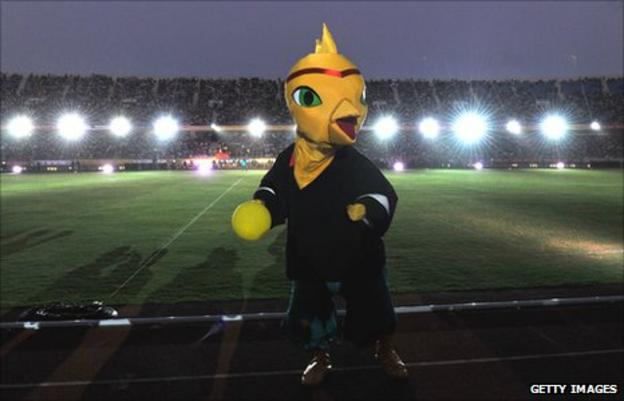 Cojito - the mascot of the 2011 All Africa Games