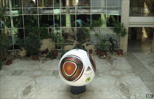 The Confederation of African Football headquarters in Cairo