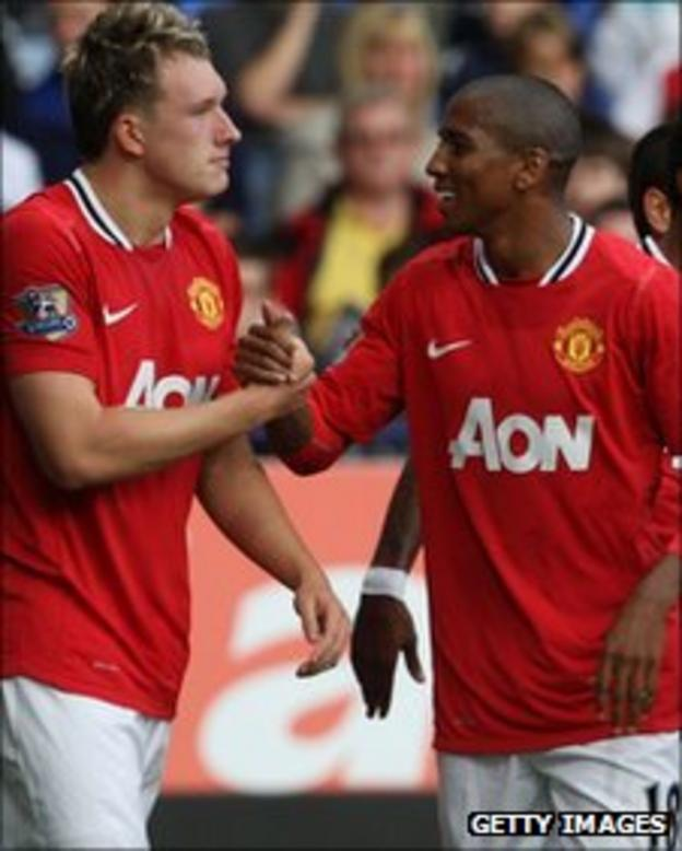 Phil Jones (left) and Ashley Young