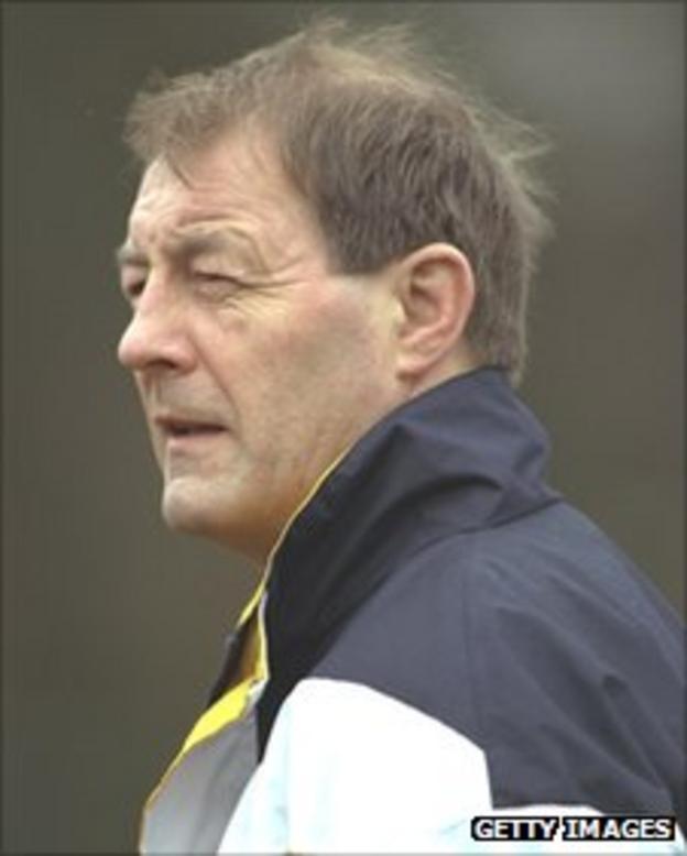 Richie Dixon in his time as Scotland coach