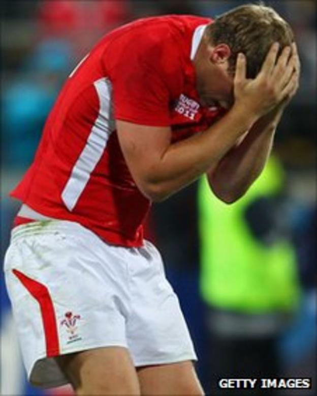 Rhys Priestland is devastated after Wales' defeat by South Africa