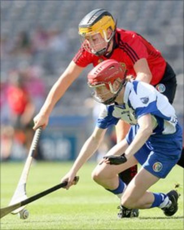 Down's Catherine McGourty is first to the ball against Grainne Kenneally of Waterford