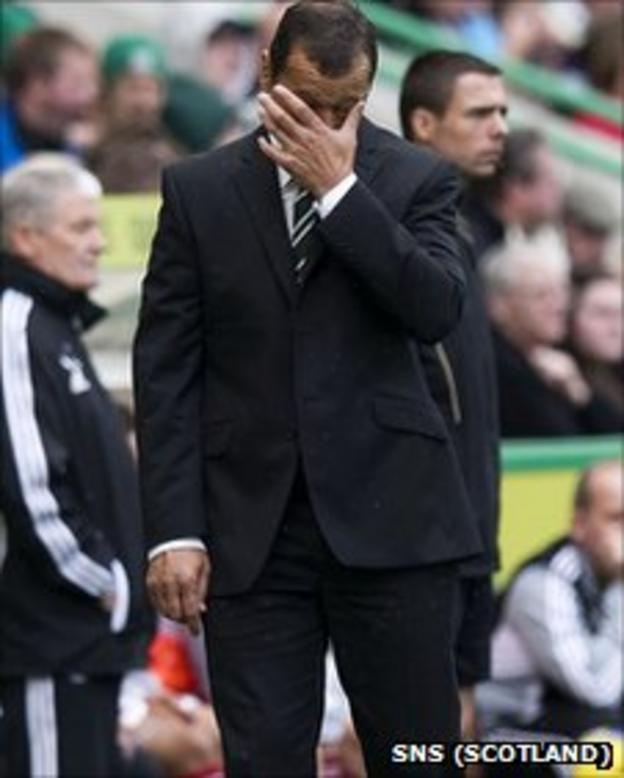 Hibernian manager Colin Calderwood