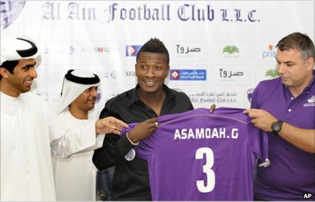 Ghan striker Asamoah Gyan