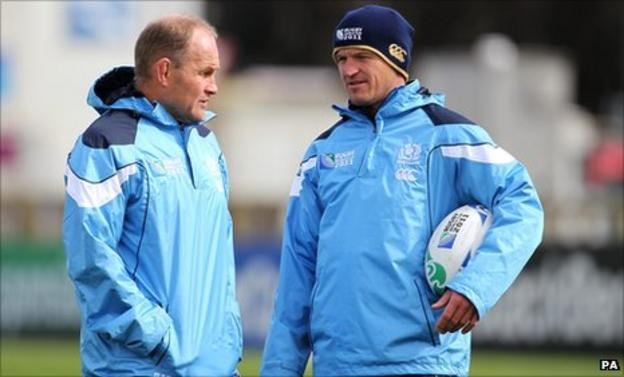 Andy Robinson and Gregor Townsend