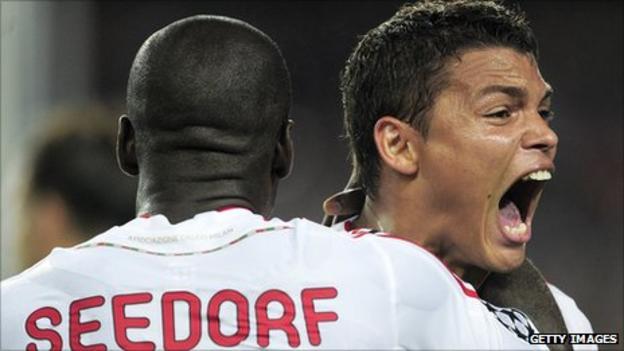 Clarence Seedorf and Thiago Silva